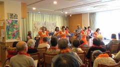 ハワイアンバンドとフラダンス